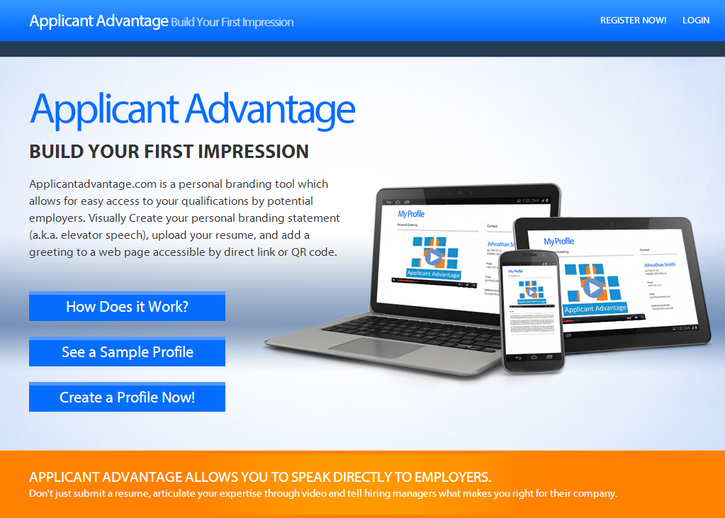 Applicant Advantage   Build Your First Impression